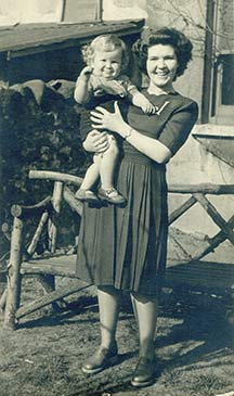 Neville's sister Jean Lawes with her son Christopher.