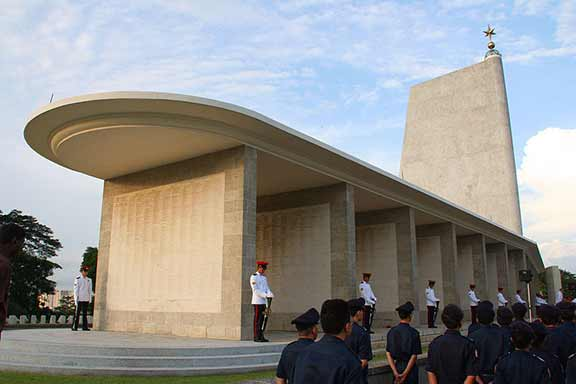 Kranji War Memorial is Singapore. The site where Neville's Name is carved in one of the many stone walls.